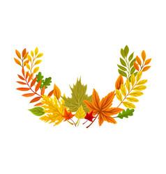Semicircular autumn composition vector