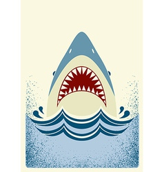 Shark jaws color vector
