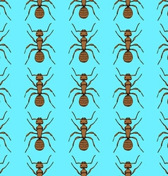 Sketch cute ant in vintage style vector image