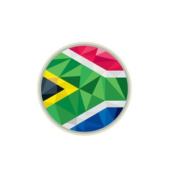 South Africa Flag Icon Circle Low Polygon vector