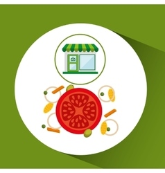 Store fresh vegetables natural vector