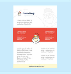 template layout for santa clause comany profile vector image
