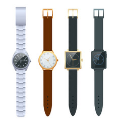 time on a wrist watch set men s watches vector image
