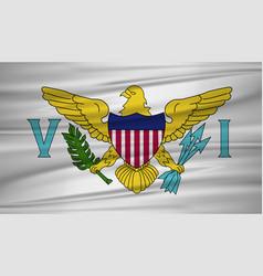 Us virgin islands flag flag of us virgin islands vector
