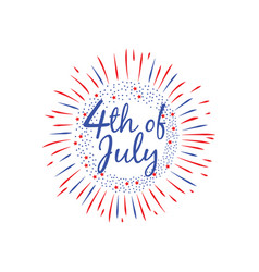 usa independence day 4 th july banner flat vector image