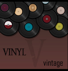 Vinyl record music for a postcard or vector