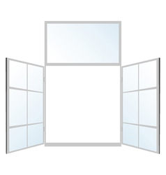 Window in white color vector