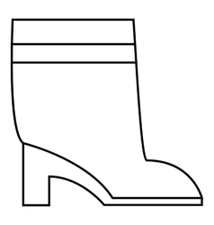 Women boots icon outline style vector