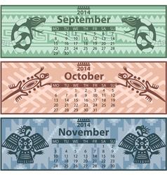 Calendar 2014 Autumn vector image