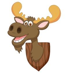 Moose head cartoon vector
