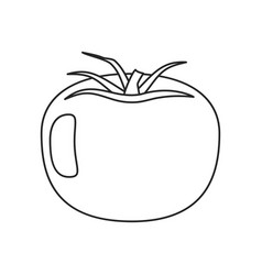 tomato vegetable healthy thin line vector image