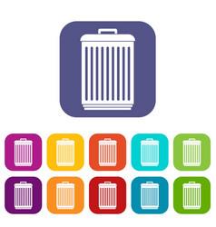 Trashcan icons set vector