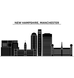 usa new hampshire manchester architecture vector image vector image