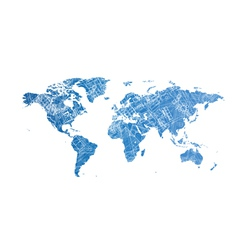 World map design concept vector image vector image