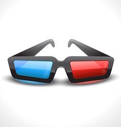 3d cinema glass vector image
