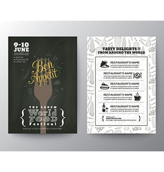 Food Festival Poster Brochure Flyer design Layout vector image vector image