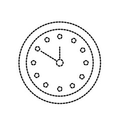 round clock time minute day timer vector image vector image