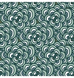 Seamless doodle Simple floral pattern in winter vector image vector image