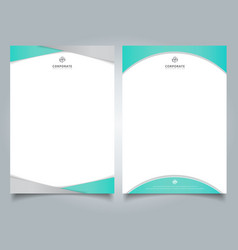 abstract creative letterhead design template vector image