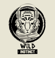 hipster wild animal print for t shirt vector image vector image
