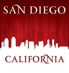 San Diego California city skyline silhouette vector image vector image