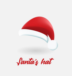 santa claus red hat isolated vector image