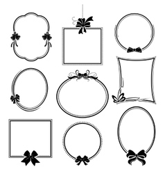 Set of frames with bows vector image vector image