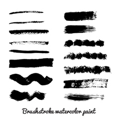 Set of real brush strokes vector image vector image