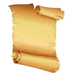 Big golden ribbon scroll of parchment vector image vector image