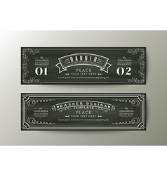 Classic style banner design template Vintage frame vector image vector image