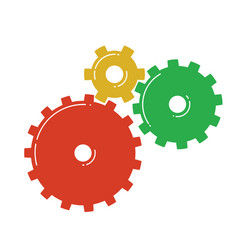 colorful gears icon vector image