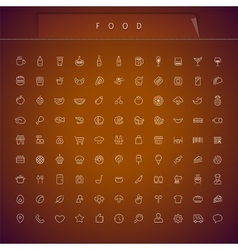 Food Thin Icons Set vector image