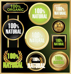 natural and organic elegant label vector image vector image