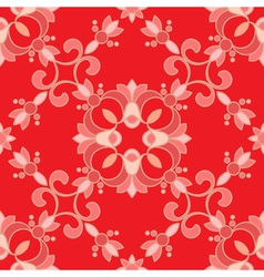 Red ormanent vector image vector image