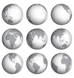 Set of globe icons vector image