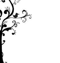 Abstract tree frame vector