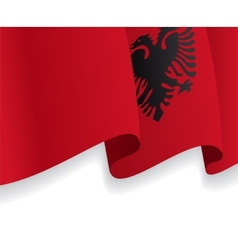 Background with waving albanian flag vector