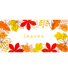 Banner with stylized autumn foliage falling vector