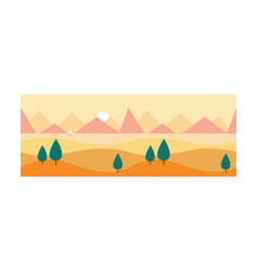 beautiful nature landscape with sea and mountains vector image