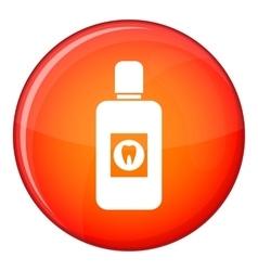 Bottle of mouthwash icon flat style vector