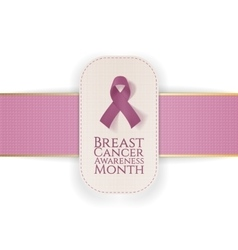Breast Cancer Awareness Month Banner with Ribbon vector image