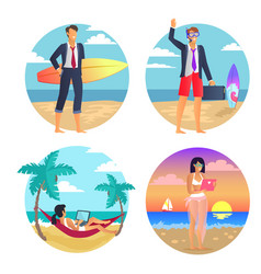 business summer freelance vector image