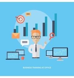 Business Training at Office Banner vector