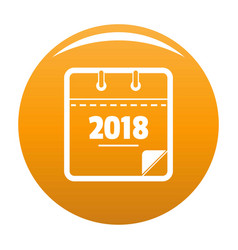 calendar new year icon orange vector image