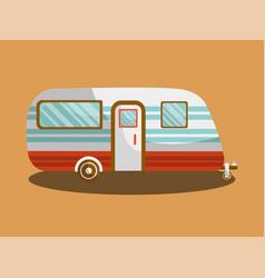 camper trail camper bus van vector image