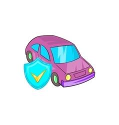 Car insurance icon in cartoon style vector