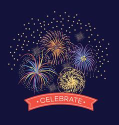 celebration event or festival firework vector image