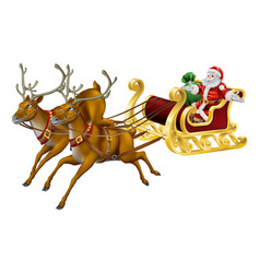 christmas sled vector image