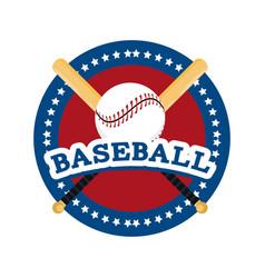 Circle sticker to baseball sport game vector