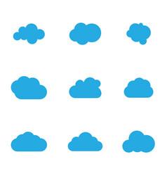 Cloud template vector